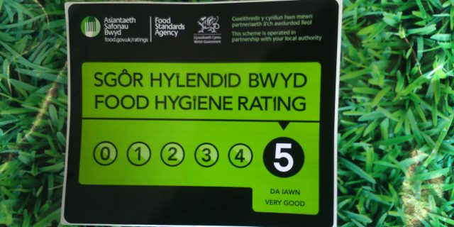 The Parsnipship celebrate 5 Star Food Hygiene Rating