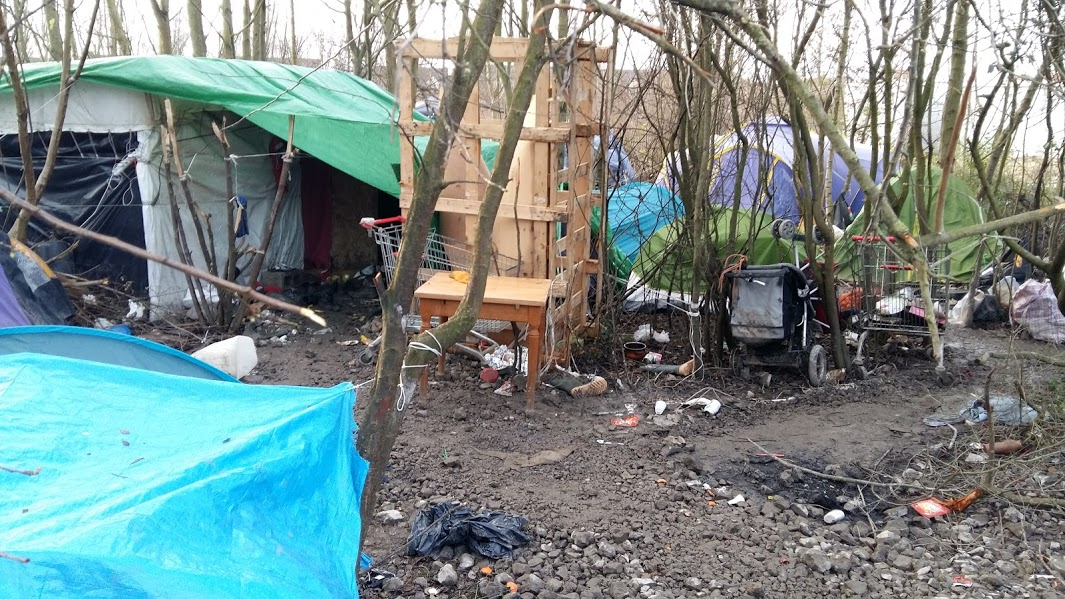 Living conditions in camp are terrible - especially in January!