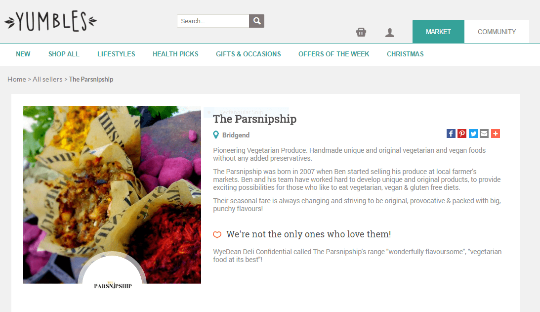 The Parsnipship Launches on Yumbles